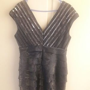 grey dress with sequence
